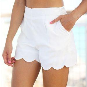 J Crew Women's Scalloped Shorts